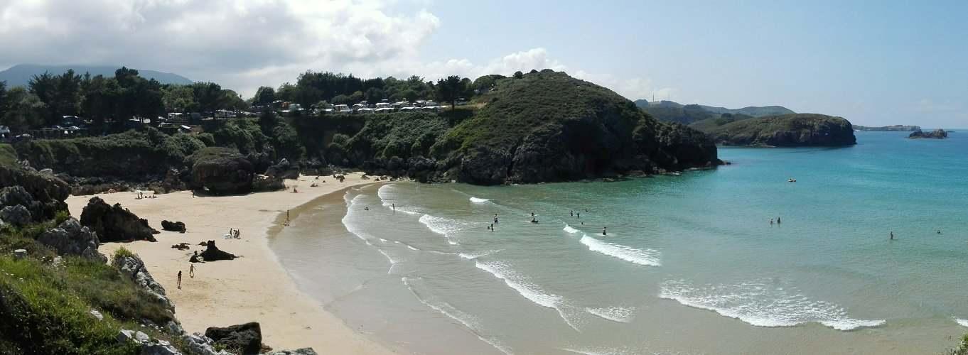 Camping Y Bungalows En Llanes Asturias Playa De Troenzo